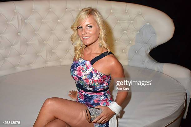 Emma Zimmermann attends the Massimo GargiaÊ Birthday Party at Les Moulins De Ramatuelle of Saint Tropez on August 18 2014 in Saint Tropez France