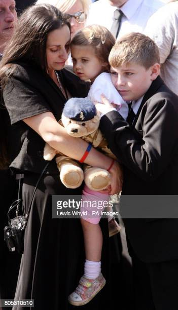 EmmaJayne the fiancee of Lance Corporal Richard Brandon of the Corps of Royal Electrical and Mechanical Engineers who was killed in Afghanistan weeps...