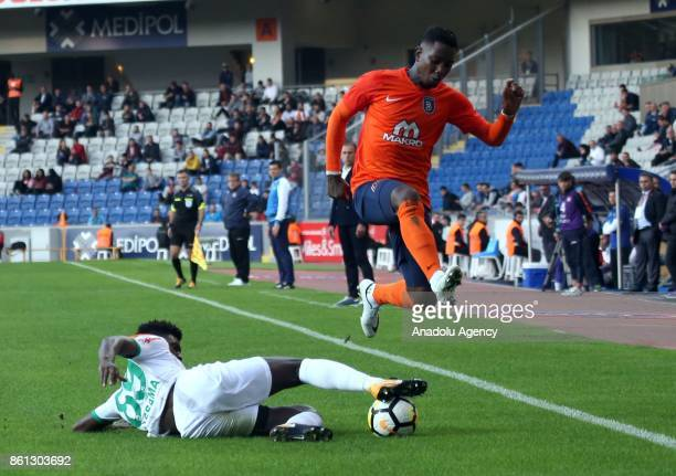 Emmanuel Adebayor of Medipol Basaksehir in action during the Turkish Super Lig soccer match between Medipol Basaksehir and Aytemiz Alanyaspor at 3rd...