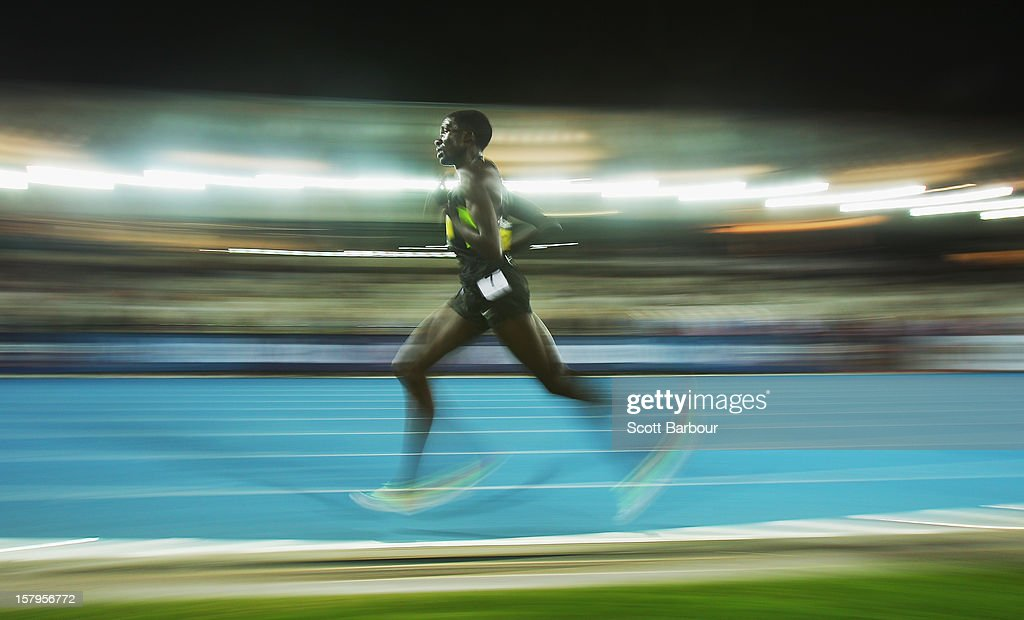 Emmanuel Bett competes in the Mens 10000 Meters Open during the Zatopek Classic at Lakeside Stadium on December 8, 2012 in Melbourne, Australia.