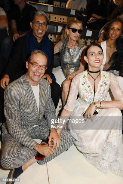 Emmanuel de Brante and Sylvie Ortega Munos 2nd Rank Kenzo Takada and Ruth Obadia attend the Stephane Rolland Haute Couture Fall/Winter 20172018 show...