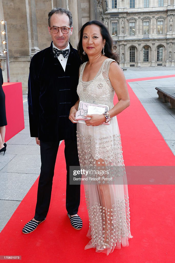Emmanuel de Brantes and Miss Gilles Hennessy attend 'Liaisons Au Louvre III' Charity Gala Dinner Hosted by American International Friends of Le Louvre at Cour Carree du Louvre on June 18, 2013 in Paris, France.