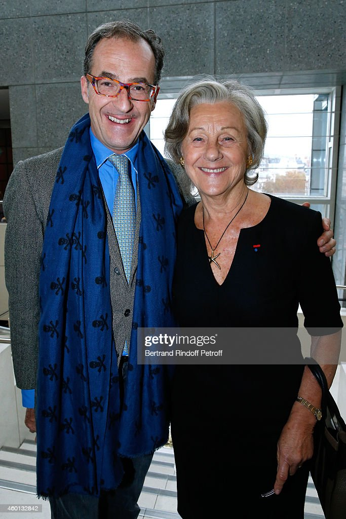 Emmanuel de Brantes with his mother Countess Marina de Brantes attend the Matinee 'Reve d'enfants' with Opera 'Casse Noisette'. Organized by AROP at Opera Bastille on December 7, 2014 in Paris, France.