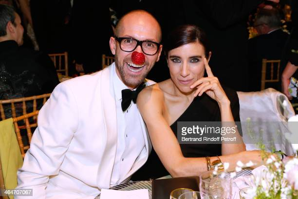 Emmanuel d'Orazio and Choreographer Blanca Li attend the Sidaction Gala Dinner 2014 at Pavillon d'Armenonville on January 23 2014 in Paris France