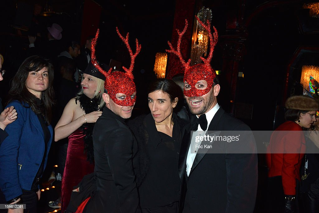 Emmanuel d'Orazio, Blanca LI and Marc Zaffuto attend the 'Joyeux Paradis' Party by Emmanuel d'Orazio & Marc Zaffuto at Le Paradis Latin on December 20, 2012 in Paris, France.