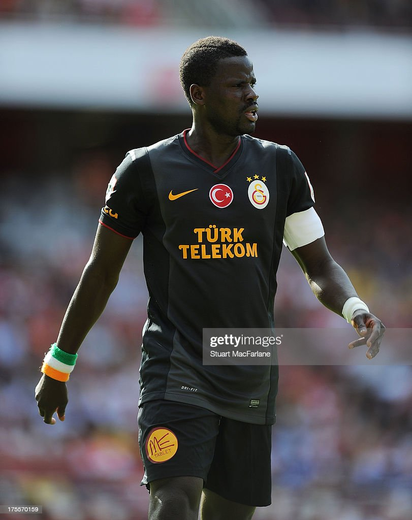 Emmanuel Eboue of Arsenal during the Emirates Cup match between Arsenal and Galatasaray at the Emirates Stadium on August 04, 2013 in London, England.