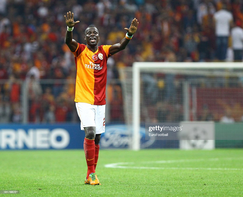 Emmanuel Eboue of Galatasaray AS in action during the UEFA Champions League group stage match between Real Madrid CF and Galatasaray AS held on September 17, 2013 at the Ali Sami Yen Spor Kompleksi, in Istanbul, Turkey.