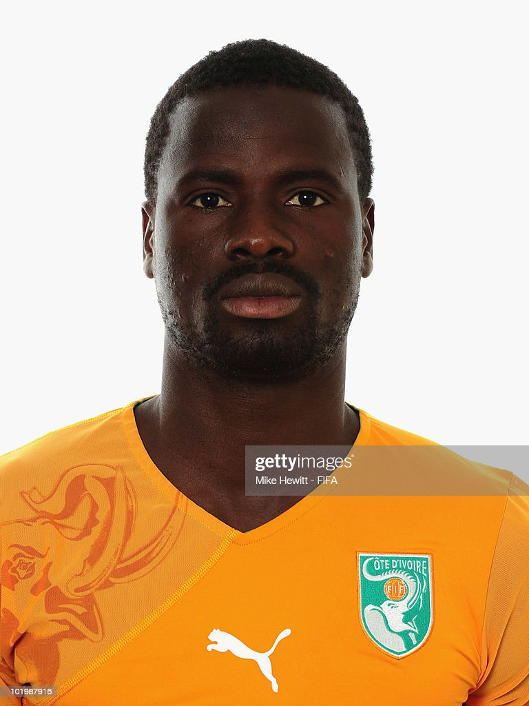Emmanuel Eboue of Ivory Coast poses for a portrait during the 2010 FIFA World Cup on June 11, 2010 in Vanderbijlpark, South Africa.