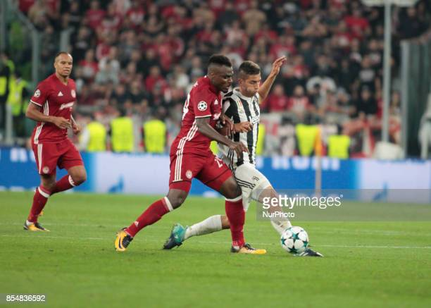 Emmanuel Emenike during Champions League match between Juventus and Olympiakos Pirus in Turin on September 27 2017