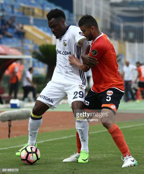 Emmanuel Emenike of Fenerbahce in action during the Turkish Spor Toto Super Lig match between Adanaspor and Fenerbahce at Adana 5 Ocak Fatih Terim...