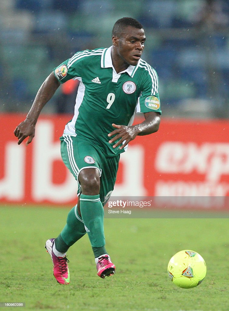 Emmanuel Emenike of Nigeria during the 2013 African Cup of Nations Semi-Final match between Mali and Nigeria at Moses Mahbida Stadium on February 06, 2013 in Durban, South Africa.