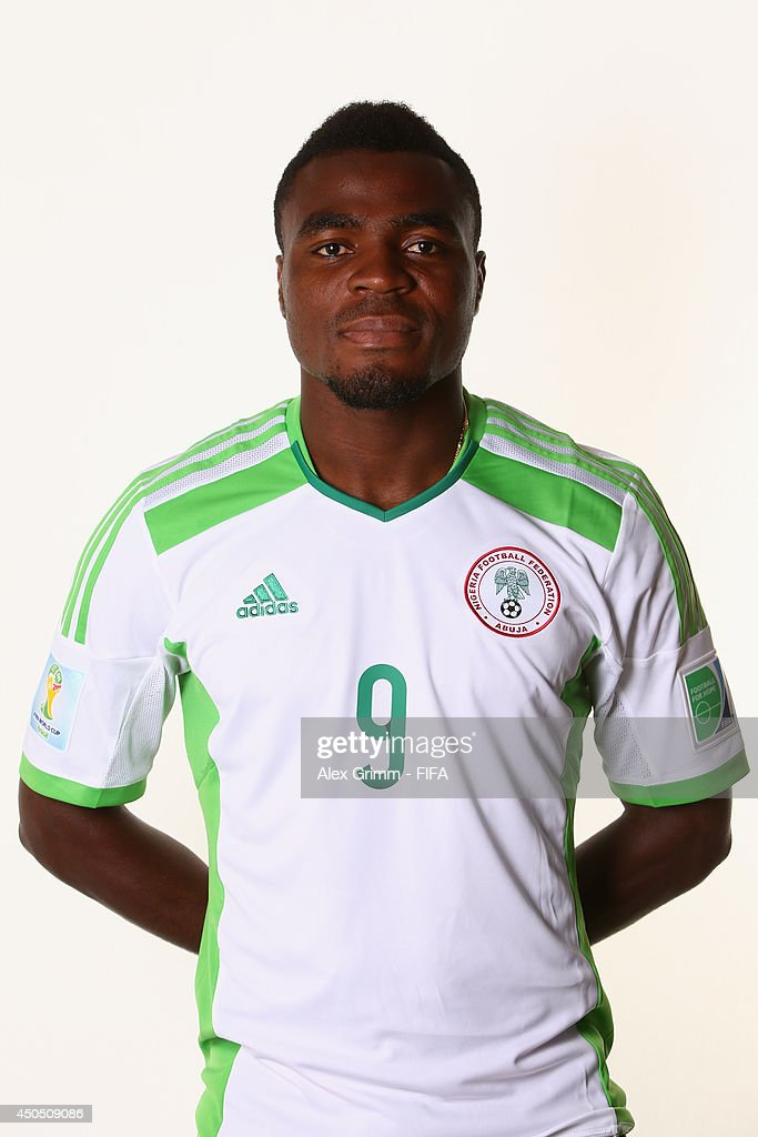 <a gi-track='captionPersonalityLinkClicked' href=/galleries/search?phrase=Emmanuel+Emenike&family=editorial&specificpeople=7487637 ng-click='$event.stopPropagation()'>Emmanuel Emenike</a> of Nigeria poses during the official FIFA World Cup 2014 portrait session on June 12, 2014 in Campinas, Brazil.