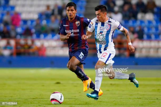 Emmanuel Garcia of Pachuca during the semifinal match between Pachuca and Atlante as part of the Copa MX Apertura 2017 at Hidalgo Stadium in Pachuca...