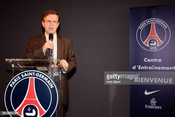 Emmanuel LAMY Inauguration du Nouveau Centre d'entrainement du PSG Saint Germain en Laye Camp des Loges