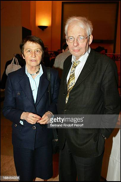 Emmanuel Leroy Ladurie and wife at 100th Episode Of 'Campus' Of Guillaume Durant At Le Cafe De L'Homme Restaurant At The Trocadero