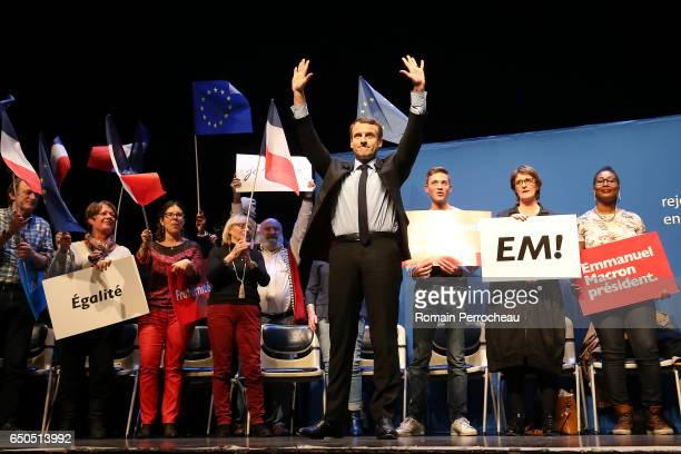Emmanuel Macron former French Economy Minister founder and President of the political movement 'En Marche ' and French presidential election...
