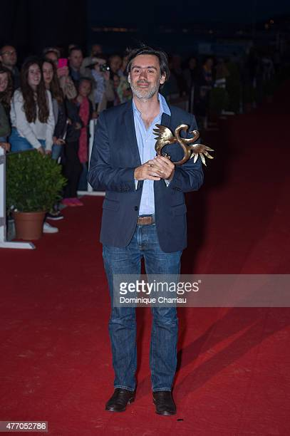 Emmanuel Mouret awarded best movie during the closing ceremony of the 29th Cabourg Film Festival on June 13 2015 in Cabourg France
