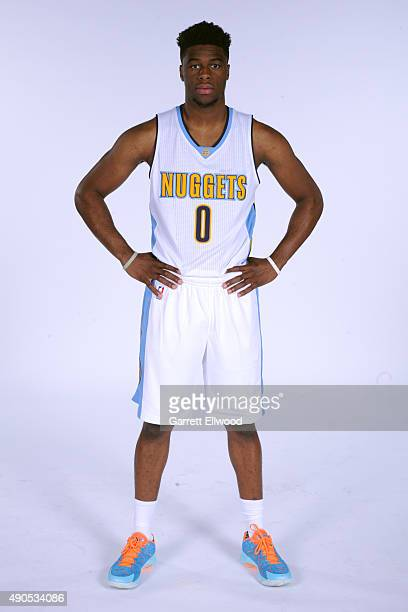Emmanuel Mudiay of the Denver Nuggets poses for a portrait on September 28 2015 at the Pepsi Center in Denver Colorado NOTE TO USER User expressly...