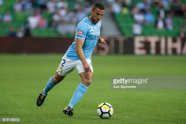 Emmanuel Muscat of Melbourne City kicks the ball during Round 6 of the Hyundai ALeague Series between Melbourne City and the Western Sydney Wanderers...