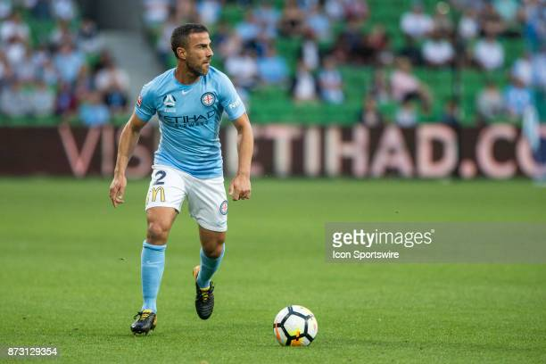 Emmanuel Muscat of Melbourne City looks for options during Round 6 of the Hyundai ALeague Series between Melbourne City and the Western Sydney...