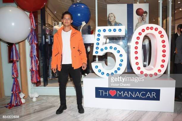 Emmanuel Palomares attends the Tommy Hilfiger Mexico City store opening at Torre Manacar on August 17 2017 in Mexico City Mexico
