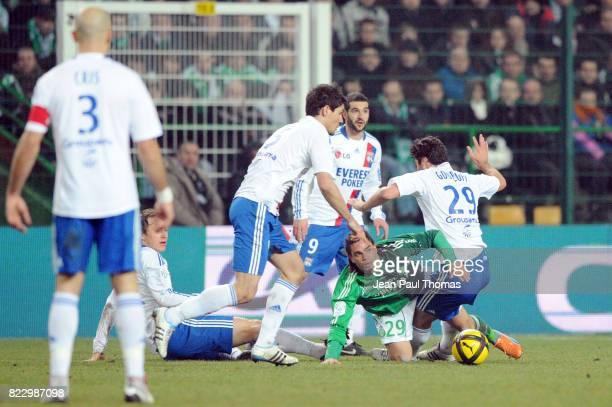 Emmanuel RIVIERE Yoann GOURCUFF û Saint Etienne / Lyon 23 eme journee de Ligue 1 ûSaint Etienneû