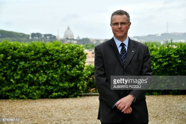 MARCIANO Emmanuel Rousseau aka Fra'Emmanuel member of the Knight's Sovereign Council of the military and hospitaller Order of Malta poses on April 27...