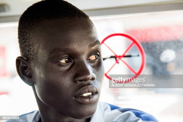 Emmanuel Samuel travels in an ICRC car to be accommodated in the ICRC compound in Juba South Sudan before being reunited with his family on June 4...