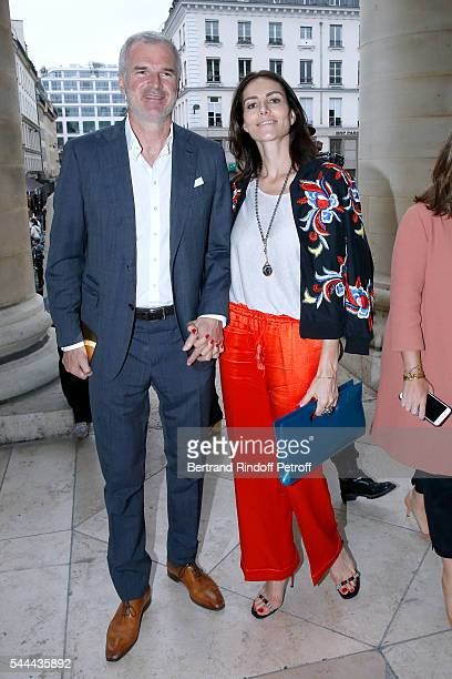Emmanuel Schreder and Adriana Abascal attend the Atelier Versace Haute Couture Fall/Winter 20162017 show as part of Paris Fashion Week on July 3 2016...