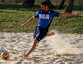 Emmanuele Zurlo of Italy in action during the Italy Beach Soccer meetup on May 19 2015 in Formia Italy