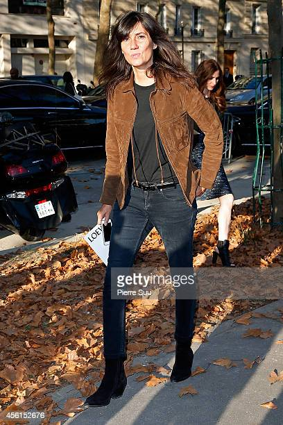 Emmanuelle Alt attends the Loewe show as part of the Paris Fashion Week Womenswear Spring/Summer 2015>> on September 26 2014 in Paris France