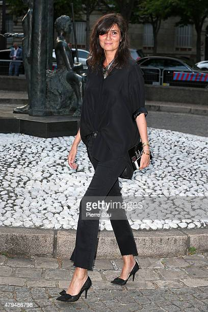 Emmanuelle Alt attends the Miu Club launch of the first Miu Miu fragrance and croisiere 2016 collection at Palais d'Iena on July 4 2015 in Paris...