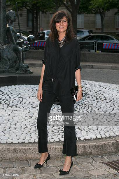 Emmanuelle Alt attends the Miu Miu Club launch of the first Miu Miu fragrance and croisiere 2016 collection at Palais d'Iena on July 4 2015 in Paris...