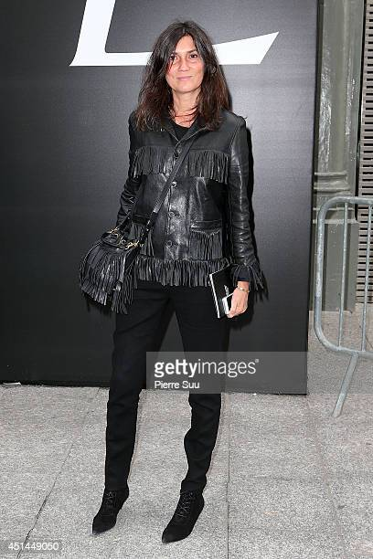 Emmanuelle Alt attends the Saint Laurent show as part of the Paris Fashion Week Menswear Spring/Summer 2015 on June 29 2014 in Paris France