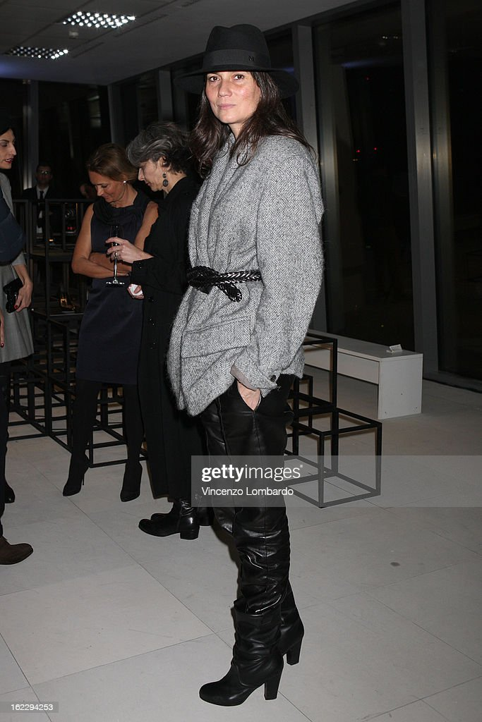 Emmanuelle Alt attends the Sergio Rossi presentation cocktail during Milan Fashion Week Womenswear Fall/Winter 2013/14 on February 21, 2013 in Milan, Italy.