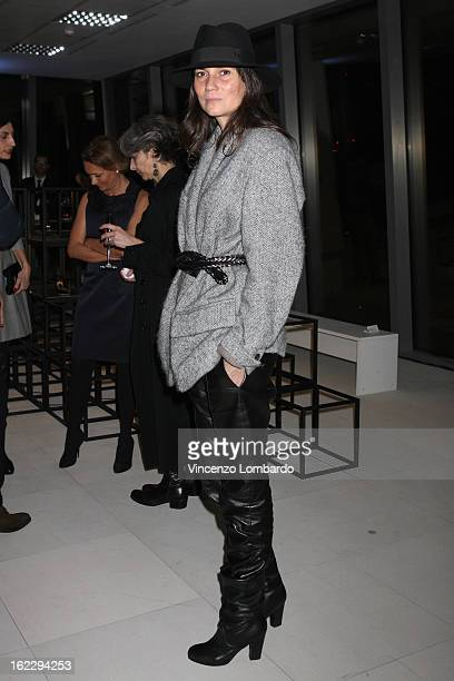 Emmanuelle Alt attends the Sergio Rossi presentation cocktail during Milan Fashion Week Womenswear Fall/Winter 2013/14 on February 21 2013 in Milan...