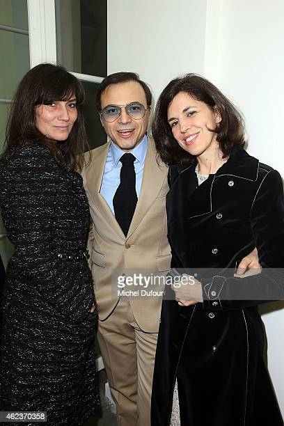 Emmanuelle Alt Bertrand Burgala and Vanessa Seward attend the Launch Elie Top 'Haute Joaillerie Fantaisie' Collection on January 27 2015 in Paris...