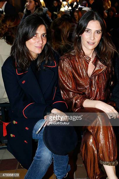 Emmanuelle Alt editorinchief of Vogue Paris and actress Geraldine Pailhas attend the Lanvin show as part of the Paris Fashion Week Womenswear...