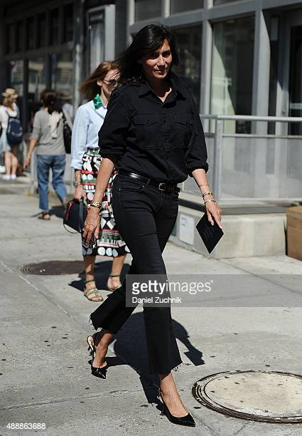 Emmanuelle Alt is seen outside the Calvin Klein show during New York Fashion Week 2016 on September 17 2015 in New York City