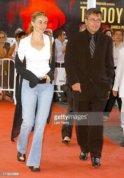 Emmanuelle Beart and Jerzy Radziwilowicvz during 2003 San Sebastian Film Festival 'Histoire de Marie et Julien' Premiere at Kursaal Palace in San...