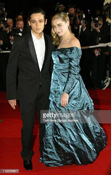 Emmanuelle Beart and Olivier Theyskens during 2004 Cannes Film Festival 'Kill Bill Vol 2' Premiere at Palais Du Festival in Cannes France