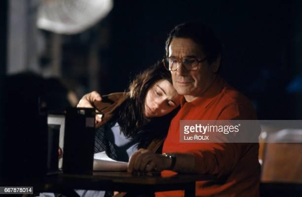 Emmanuelle Beart and Robert Hossein in a scene from the film Les Enfants du Desordre directed by Yannick Bellon