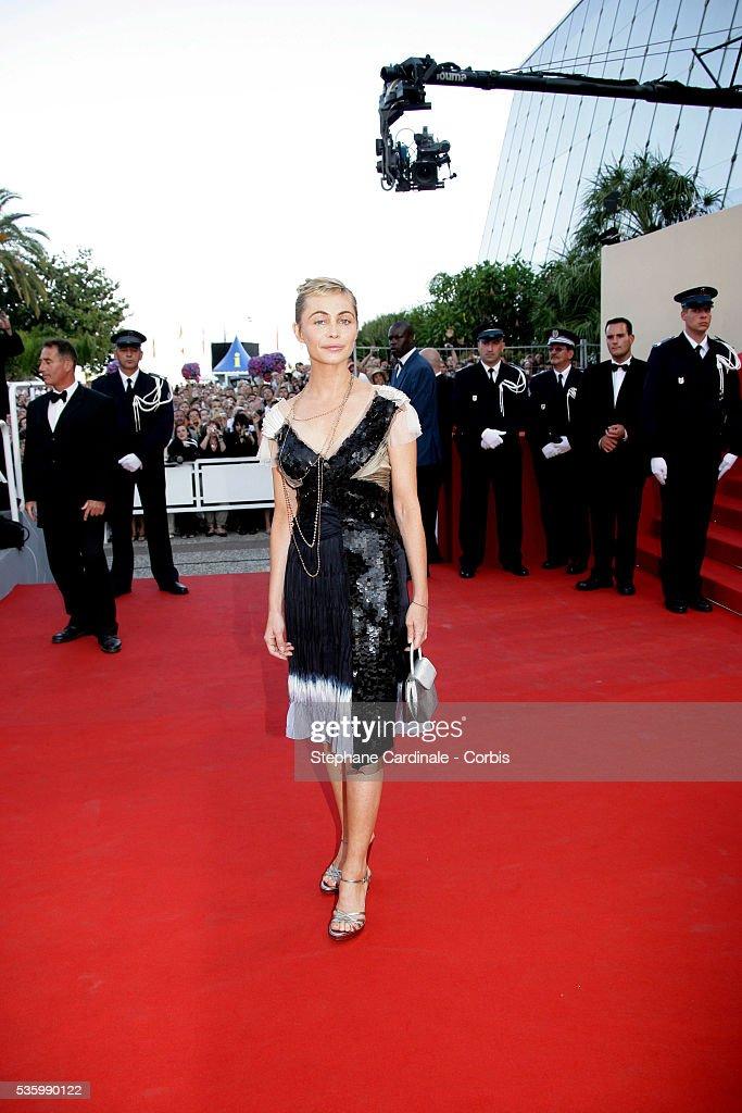 Emmanuelle Beart at the premiere of 'Quand j'étais chanteur' during the 59th Cannes Film Festival.