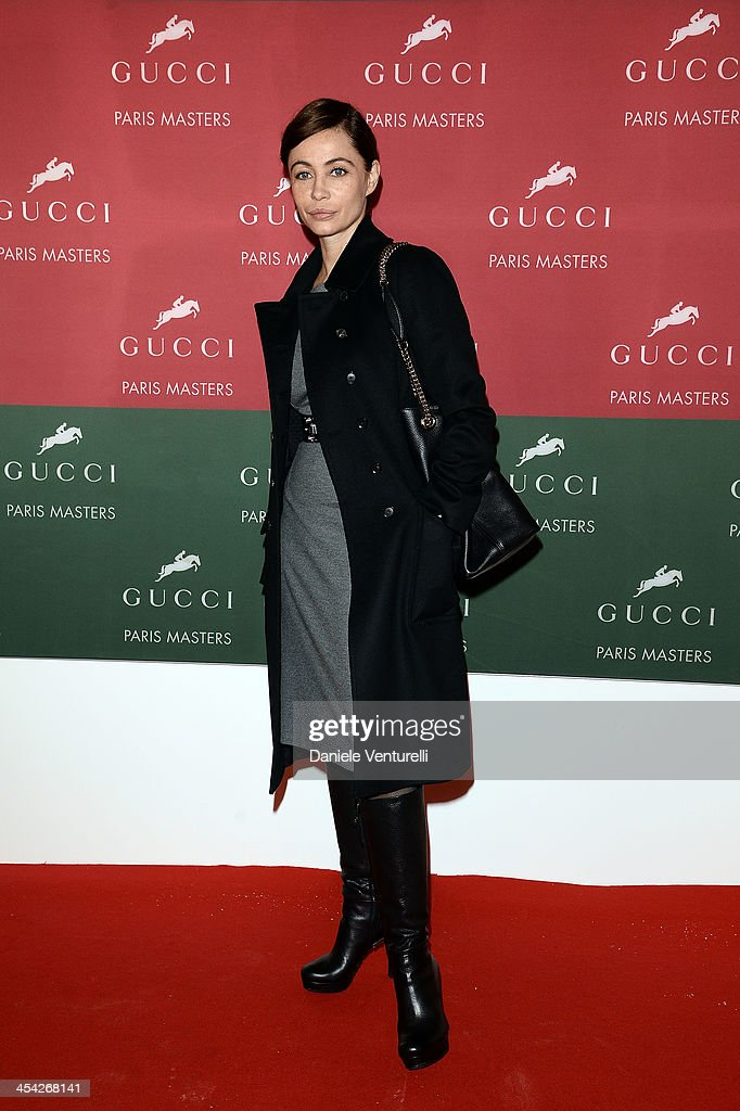 <a gi-track='captionPersonalityLinkClicked' href=/galleries/search?phrase=Emmanuelle+Beart&family=editorial&specificpeople=171374 ng-click='$event.stopPropagation()'>Emmanuelle Beart</a> attends day 4 of the Gucci Paris Masters 2013 at Paris Nord Villepinte on December 8, 2013 in Paris, France.