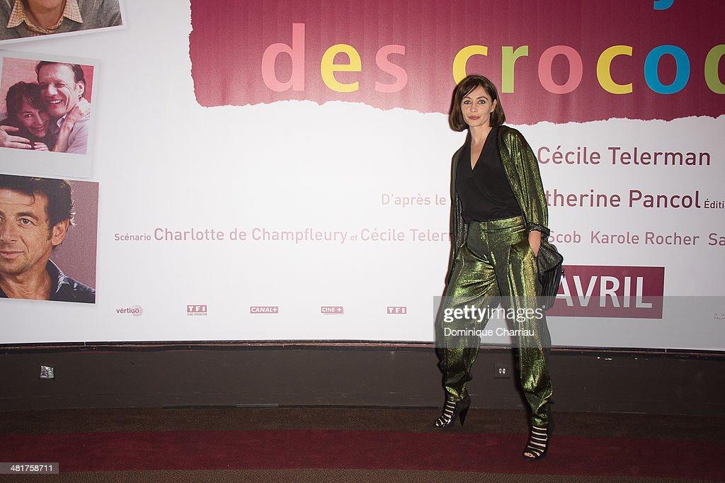 Emmanuelle Beart attends the 'Les Yeux Jaunes Des Crocodiles' Paris Premiere at Cinema Gaumont Marignan on March 31, 2014 in Paris, France.