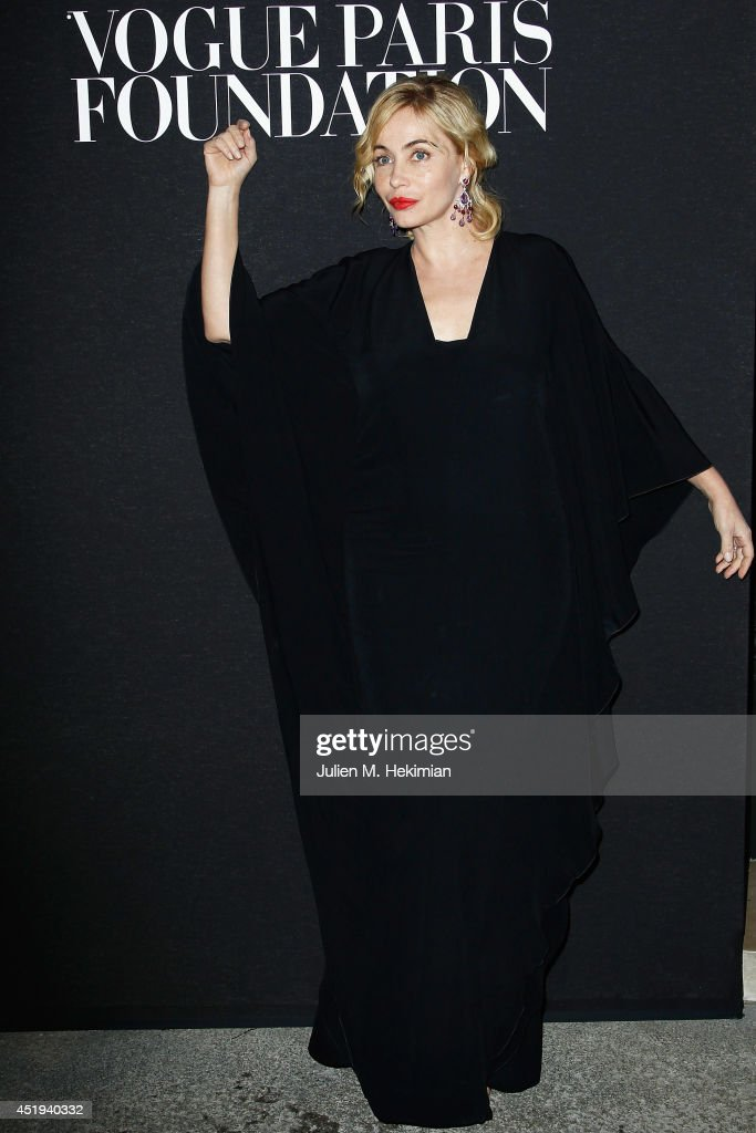 Emmanuelle Beart attends the Vogue Foundation Gala as part of Paris Fashion Week at Palais Galliera on July 9, 2014 in Paris, France.