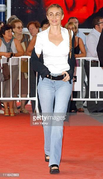 Emmanuelle Beart during 2003 San Sebastian Film Festival 'Histoire de Marie et Julien' Premiere at Kursaal Palace in San Sebastian Spain