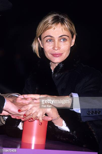 Emmanuelle Beart during Emmanuelle Beart Inaugurates the Illuminations of the Lafayette Galeries Facade November 6 2006 at Galeries Lafayette in...