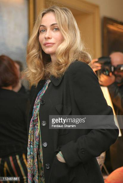 Emmanuelle Beart during Launch of the 2004 Renault French Film Season Inside at French Ambassadors Residence in London United Kingdom
