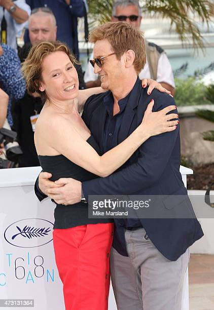 Emmanuelle Bercot and Benoit Magimel attend the 'La Tete Haute photocall during the 68th annual Cannes Film Festival on May 13 2015 in Cannes France